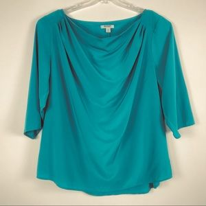 Old Navy 2X Teal Blouse